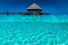 风景在马尔代夫 免版税库存照片