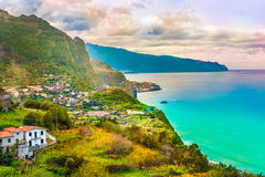 风景在马德拉岛,葡萄牙 库存照片