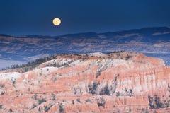 风景在bryce峡谷国家公园 库存照片