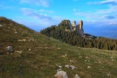 风景在Bucovina,罗马尼亚- Stones夫人 免版税库存图片