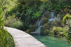 风景在Plitvice湖 库存照片