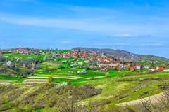 风景在Zagorje,北克罗地亚 库存照片