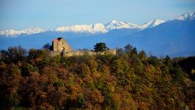 风景城堡特兰西瓦尼亚 库存照片