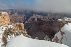 风景大峡谷在冬天 免版税图库摄影