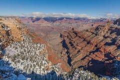 风景大峡谷的冬天 免版税库存图片