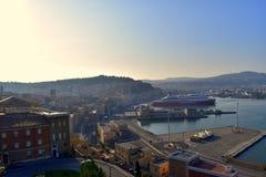 风景安科纳口岸马尔什意大利 免版税库存图片