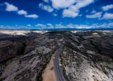 风景小路犹他路线12Escalante向巨石城豚脊丘 图库摄影
