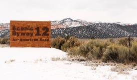 风景小路12所有美国路犹他美国北美 免版税库存照片