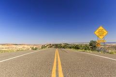 风景小路12,犹他,美国 库存图片