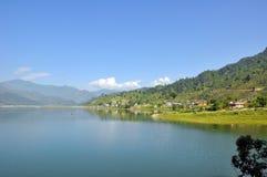 风景尼泊尔的pokhara 库存照片