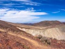 风景山在死亡谷国家公园 库存图片