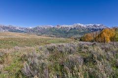 风景山风景在秋天 库存图片