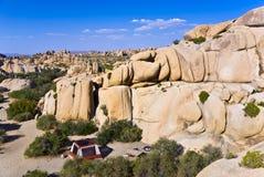 风景岩石在约书亚树国家公园 免版税图库摄影