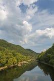 风景峡谷新的河 免版税图库摄影