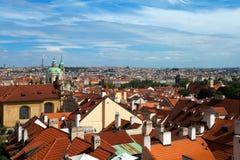布拉格,捷克全景  免版税库存照片