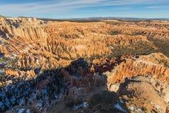 风景布莱斯峡谷国家公园犹他的冬天 免版税库存图片