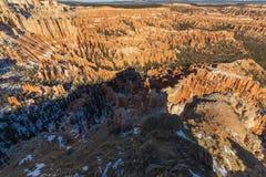 风景布莱斯峡谷国家公园犹他的冬天 免版税图库摄影