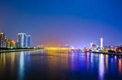 风景广州的晚上 免版税库存照片