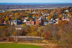 风景弗农和埃林顿CT秋天视图 免版税库存照片