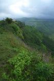 风景惊人Sajjangad的山 免版税图库摄影