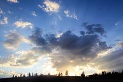 风景或cloudscape日落或者日出 免版税库存图片