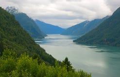 风景挪威的海湾 库存照片