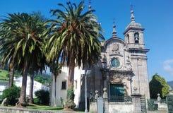 风景教会在Mondoñedo西班牙 免版税库存照片