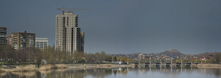 风景散步在顿涅茨克 库存照片