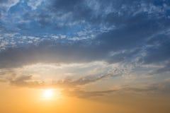风景日出天空背景 免版税库存照片