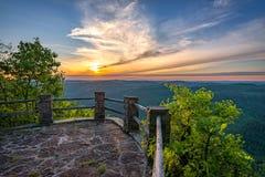 风景日落,阿巴拉契亚山脉,天国国家公园,肯塔基 库存照片