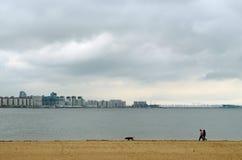 风景有海湾的看法 免版税库存照片