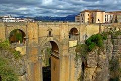 风景桥梁在朗达,西班牙 免版税库存图片