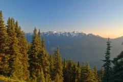风景横向的山 库存照片
