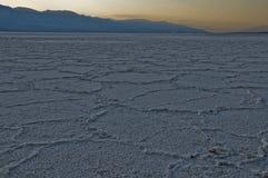 风景沙漠的盐 库存照片