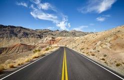 风景沙漠路,旅行概念图片,美国 图库摄影