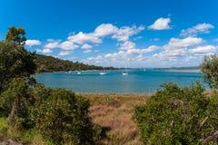 风景河盐水湖1770年城镇节假日澳洲 免版税库存图片