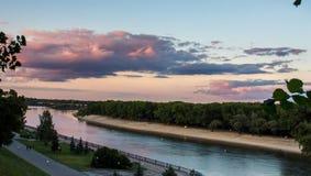 风景河 库存照片