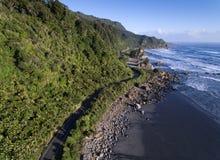 风景沿海高速公路 库存图片