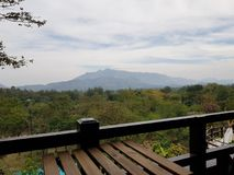 风景泰国的山 免版税库存图片