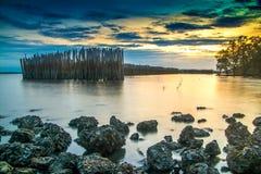 风景海在泰国 库存图片