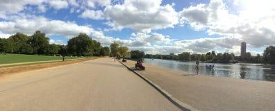 风景海德公园,伦敦 库存图片