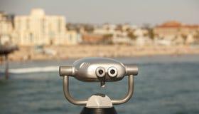 风景海滩视图 免版税库存图片
