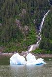 风景瀑布在阿拉斯加 免版税库存照片
