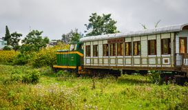 风景火车在大叻,越南 库存图片