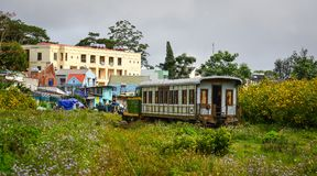风景火车在大叻,越南 免版税库存图片