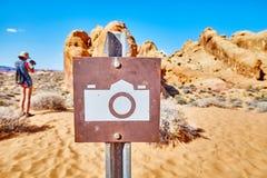 风景点照片标志,美国 免版税库存照片