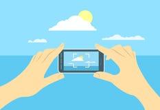 风景照片由手机的 免版税库存照片