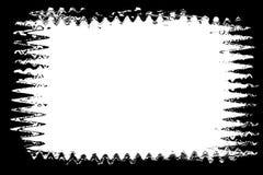 风景照片的黑波浪摄影边缘 库存例证