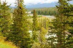 风景班夫国家公园西部加拿大 免版税库存图片