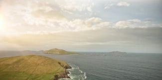风景田园诗看法由海的 库存例证